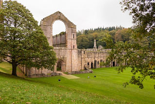 Imposing west front of the Nave - Fountains Abbey