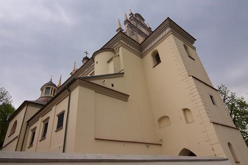 Kościół farny św. Jana Chrzciciela i Bartłomieja Apostoła od północnego zachodu