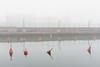 April Fog (pni) Tags: fog jetty pier port dock harbour mist water buoy sea quiet fence helsinki helsingfors finland suomi pekkanikrus skrubu pni