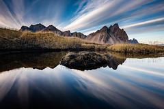 Walking Stokksnes (modesrodriguez) Tags: 2016 iceland islandia landscape paisaje travel viaje stokksnes clouds reflection blacksand sky water