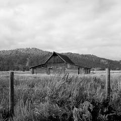 T.A. Moulton Barn (rpantaleo) Tags: wyoming unitedstates us mormonrow jackson hasselblad film barn grandtetonnationalpark blackandwhite