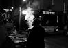 Lá vai o 300 (ANDARILHA \\ Isabel Coimbra) Tags: porto portugal streetfood vendor chestnuts castanhas bus autocarro night smoke passosmanuel
