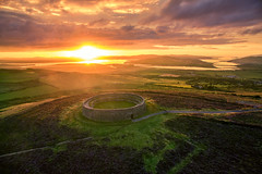 """""""An Grainan of Aileach"""" - Ancient Ring Fort of Donegal (Gareth Wray - 10 Million Views, Thank You) Tags: grianan aileach lough swilly foyle ancient irish kings hill lookout fort ring ringed burt county donegal ireland summer landmark stone brick monument tourist tourists site famous visit scenic countryside druid celtic gareth wray photography inishowen derry londonderry an angrainan blue sun inch island historic aerial drone dji phantom wild atlantic way waw 3 quadcopter heather national gaelic photographer garethwrayphotography vacation holiday europe fahan buncrana people kingdom outdoor uav architecture landscape"""
