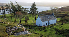 Isolated crofters cottage (Dave Russell (1.5 million views thanks)) Tags: isolated cottage house croft crofters building view vista scene scenery landscape isle island skye inner hebrides scotland trees water loch snizort tree greshornish guillies coast coastal shore shoreline ngc