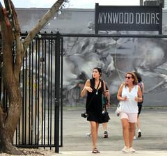 Wynwood Walls. Wynwood Revisited (life-is-color) Tags: wynwood miami graffiti mural streetmural art painting women doors