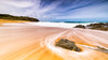 Time and motion (Chas56) Tags: water movement ocean sky beach sea landscape seascape canon longexposure nd neutraldensityfilter canon5dmkiii ngc rock colour complimentarycolours waves motion