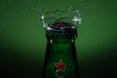 Refresh (g3az66) Tags: refresh frustration strobist yongnuo yn560iv yn560tx gel green heineken beer cerveza redstar splash drop splashart