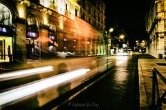 Double cross the vacant and the bored (Fabrice Le Coq) Tags: route bâtiment ville flou véhicule nuit lumières fabricelecoq