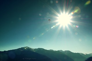 Paragliding under the sun