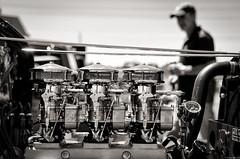 Ringwood 19/11/2017 (simonk45) Tags: blackandwhite car carburettor engine hotrod mono monochrome performance street