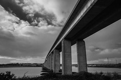 The Bridge II (selvagedavid38) Tags: canon 70d sigma suffolk uk england concrete orwell black white mono motorway freeway