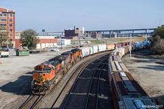 BNSF 993 SB Manifest (MoPac82) Tags: upy 600 up passenger special business train cp 1401 kansas city union station 1995 1996 mdnbus bnsf 993 sb manifest 3 meet ns 1072 112