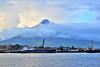 Mayon at sea (andrewsebrio) Tags: mayon volcano philippines pilipinas legazpi albay bicol luzon nikon nikonh d5500 landscape ships boats sea dock clouds