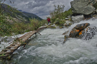 Another crossing on the way to Ak-kem Glacier