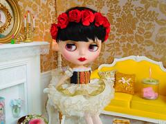 Nutcraker (Cossette...) Tags: tbl blythe doll gold ballet nutcraker chritsmas barbie sindy cat rement floralcrown suzygoose susygoose