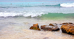 IMG_0600 Low Tide (Cyberlens 40D) Tags: mexico cancun resorts beach tides rocks waves calm sand canon platinumheartawards