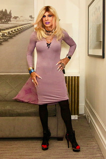 Cortney - Blonde in Purple and Black
