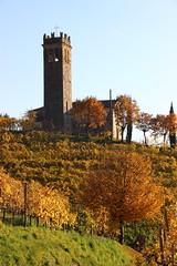 San Lorenzo (stgio) Tags: panorama veneto colline farradisoligo chiesetta autunno colors colori yellow paesaggiodorato