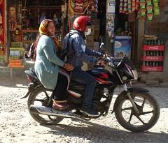 2-up (posterboy2007) Tags: kathmandu nepal motorcycle bike rider pillion 2up helmet street dust color sony honda