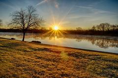 A December Sunburst (kendoman26) Tags: hdr nikhdrefexpro2 niksoftware sonyalpha sonya58 sonyslta58 sigma1850f2845 sunrise sunburst morrisillinois morning strattonstatepark illinoisriver