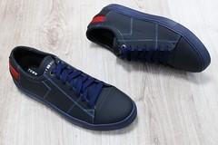 Мужские туфли кожаные спортивного и повседневного стиля на шнурках Tommy Hilfiger синие с красными вставками (azzafazzara) Tags: туфли обувь красный кожа спорт