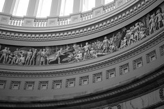 Frieze of American History - US Capitol Rotunda (ChrisandMei) Tags: 20171124306 usa us capitol fresco painting washington dc history cristobalcolon