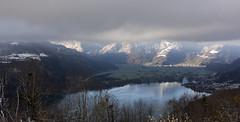 Nebelmeer auf der falschen Seite (Jo&Ma) Tags: landschaft outdoor weiss farben blau morgenlicht nebel schnee see sonne sonnenlicht sonnenstrahlen verschneit wald winterlandschaft winterwonderland wolken alpen gebirge himmel orte schweiz