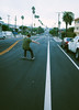 san pedro... (Damien Manspeaker) Tags: san pedro skateboarding bomb hills bombing palm tree trees street powerslide skate