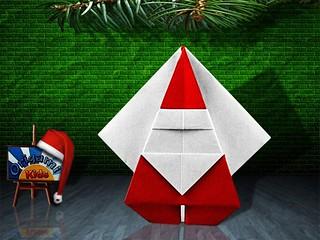Origami Santa Claus by Katsushi Nosho