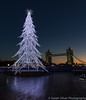 First light and bright light! (sarahOphoto) Tags: 6d blue bridge bright canon christmas clear decorations england exposure illuminated illuminations kingdom lights london long more pre sky sunrise tower tree uk united white reflection river thames first light neon led
