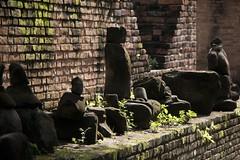 Pieces of history (ramosblancor) Tags: humanos humans historia history arqueología archaeology esculturas sculptures religión religion templo temple wat buda buddha watphraram ayutthaya tailandia thailand viajar travel color bricks ladrillos muro wall