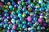 Sea of Blue (steve_whitmarsh) Tags: london city urban abstract blue purple silver green ball