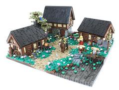 Northshire Village (Graham Gidman) Tags: lego youtube grahamthebuilder village castle