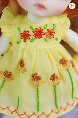 Handmade Embroidered Dresses (Ylang Garden) Tags: handmade embroidered dress latiyellow