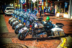 Best For The Best. (Igor Danilov Philadelphia) Tags: harleydavidson motorcycles police philadelphia center best power pride street market parked white blue shine chrome bike people city mirror service safe machine row usa america cool help