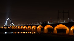 De Oversteek at Night (bramtop_1990) Tags: bridge waal nijmegen nimma oversteek de new orange warm evening wide angle landscape water river lights stars nikon d610 nikkor 20mm f18