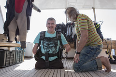 1104_05a (KnyazevDA) Tags: disability disabled diver diving deptherapy undersea padi underwater owd redsea buddy handicapped aowd egypt sea wheelchair travel amputee paraplegia paraplegic