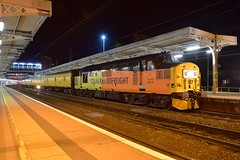 Colas Railfreight 37219 pauses at Ipswich, prior to reversing, with a Cambridge - March, via East Anglia, Test Train. 10 11 2017 (pnb511) Tags: trains railway ipswich greateasternmainline geml colas rail freight class37 night dark station track tracks diesel loco locomotive