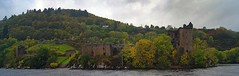 Urquhart Castle (WISEBUYS21) Tags: loch ness urquhart castle monster nessie green trees grass lake water boat inverness river highlands scotland scottish scotts scots scotsman wood forrest great glen panorama windy stormy dark skies brave ruins myth mythilogical dinosaur fresh still wisebuys21 cloudy highlander outlander bonnie prince charlie 15th october 2017 15102017