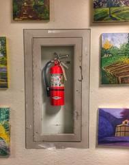 Art Building, University of Washington (Curtis Cronn) Tags: artbuilding seattle universityofwashington iphone fireextinguisher wall