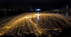 171202 3275 (steeljam) Tags: steeljam nikon d800 lightpainters wire woll spinning o2 isle dogs beach long exposure favourite