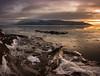 Exit stage left (Traylor Photography) Tags: patrickjosephhallinbeach iceshelf tide landscape refelction iceflow snowstorm mountains panoarama sunset sewardhighway drab anchorage rocks alaska unitedstates us