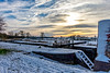 Cranes Lock (Peter Leigh50) Tags: lock canal snow landscape grand union bridge trees towpath farmland rural winter cold countryside sky sun clouds fujifilm fuji xt10