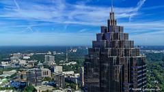 Atlanta, GA: Promenade II at 1230 Peachtree Street viewed from the 50th floor of the Four Seasons Hotel (nabobswims) Tags: 1230peachtreestreet atlanta ga georgia hdr highdynamicrange lightroom midtownatlanta nabob nabobswims openhouseatlanta photomatix promenadeii sel18105g sonya6000 us unitedstates