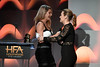Honoree Kate Winslet (R) accepts the Hollywood Actress Award for 'Wonder Wheel' from actor Shailene Woodley onstage during the 21st Annual Hollywood Film Awards at The Beverly Hilton Hotel on November 5, 2017 in Beverly Hills, California. (Photo by Kevin Winter/Getty Images)