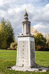 Ägypten, Insel Pharos - Leuchtturm von Alexandria als Modell  in der 'Miniaturwelt Lichtenstein' in Sachsen (zimmermann8821) Tags: alexandria altertum antike architektur leuchtturm meer mittelmeer modell modellbau pharos ägypten