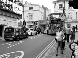 A Tight Sightseeing Corner in Brighton.