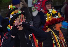 castleton morris dancers 2017 christmas lights switch on  (41) (Simon Dell Photography) Tags: powder kegs morris dancers castleton derbyshire countryside peak district simon dell photography autumn winter 2017 old english village christmas lights switch november street xmas tree decorations church peveril castle river house town