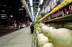 Evening shopping (Maya K. Photography) Tags: shop shadows shopping evening manhattan newyork ny nyc america usa us street streetphoto streetsofmanhattan streetphotonewyork shot fruit vegetables food light lights nikon nightlights people majkakmecova september 2017 photo photography nightphotography night cityphotography