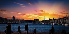 Vieux-Port MARSEILLE (thierrybalint) Tags: bateaux marseille vieuxport panorama sunset boat town people water sky sea méditerranée ville building